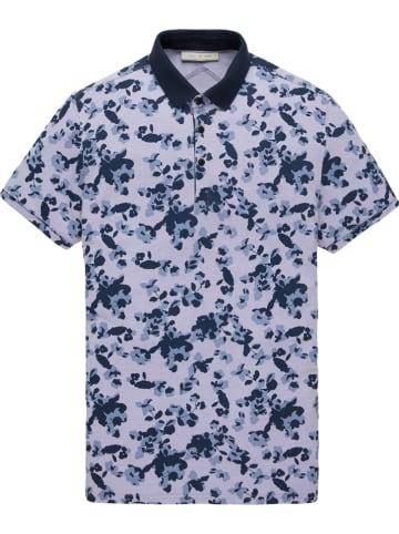 CAST IRON Poloshirt grijs/donkerblauw