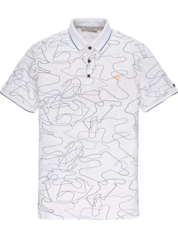 CAST IRON Poloshirt wit/grijs