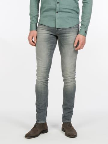 CAST IRON Dżinsy - Tapered fit - w kolorze szarym