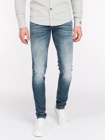 CAST IRON Spijkerbroek - slim fit - blauw