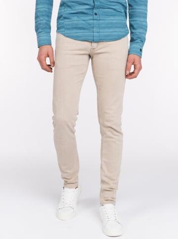 CAST IRON Dżinsy - Slim fit - w kolorze beżowym