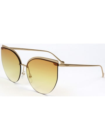 Salvatore Ferragamo Damen-Sonnenbrille in Gold/ Orange