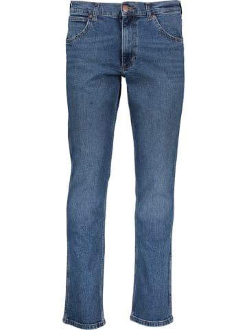 """Wrangler Spodnie """"Greensboro"""" - Regular Straight fit - w kolorze niebieskim"""