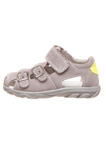 Richter Shoes Leder-Halbsandalen in Grau