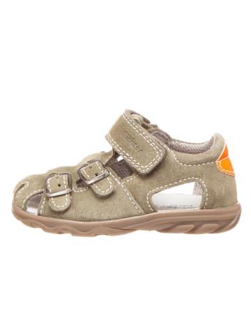 Richter Shoes Leren enkelsandalen kaki