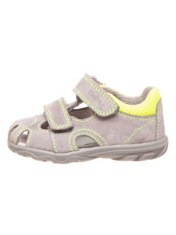 Richter Shoes Skórzane półsandały w kolorze szarym