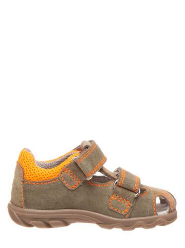Richter Shoes Skórzane półsandały w kolorze khaki