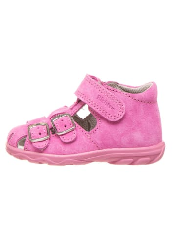 Richter Shoes Leder-Halbsandalen in Rosa
