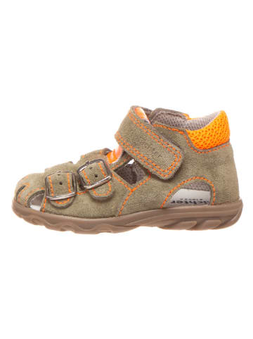 Richter Shoes Leder-Halbsandalen in Beige