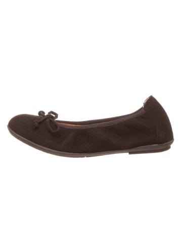 Richter Shoes Leder-Ballerinas in Schwarz