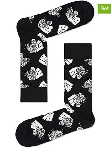"Happy Socks 2-delige set: sokken ""Mountain Lion"" zwart"