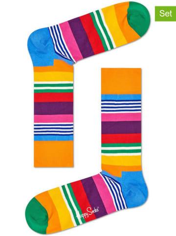 "Happy Socks 2-delige set: sokken ""Multi Stripe"" meerkleurig"