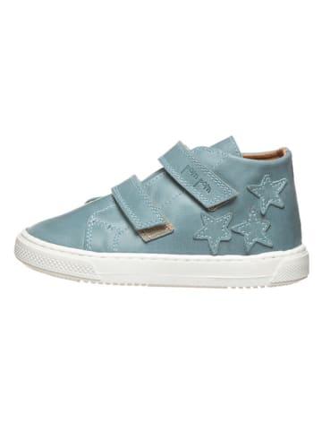 POM POM Leren sneakers lichtblauw