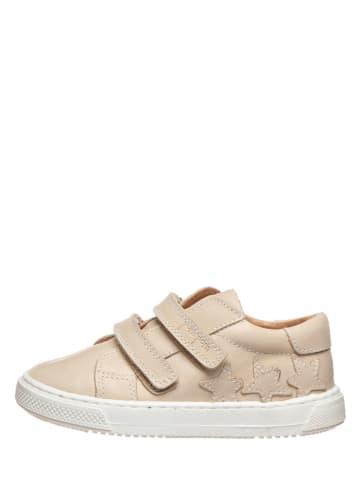 POM POM Skórzane sneakersy w kolorze kremowym