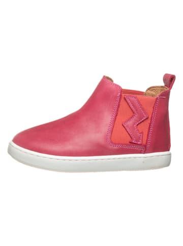 POM POM Leder-Chelsea-Boots in Pink