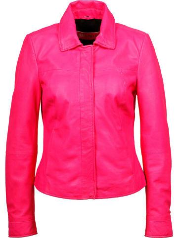 FREAKY NATION Lederjacke in Pink