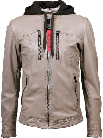 FREAKY NATION Leren jas beige