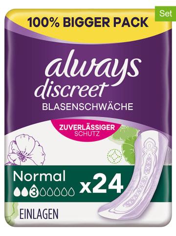 """Always discreet 3er-Set: Inkontinenz-Einlagen """"Normal Blasenschwäche"""", je 24 Stück"""