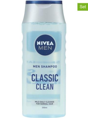 """NIVEA 6-delige set: shampoo's """"Classic Clean"""", elk 250 ml"""