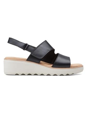 Clarks Leder-Sandalen in Schwarz