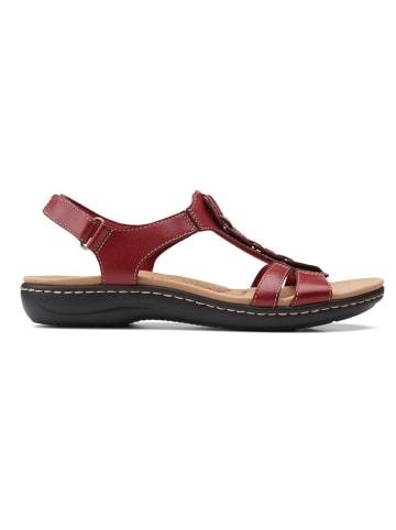Clarks Leder-Sandalen in Rot