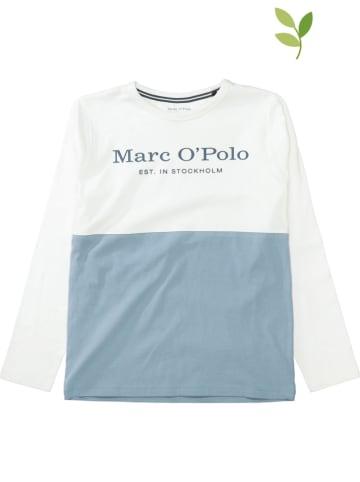 Marc O'Polo Junior Koszulka w kolorze błękitno-białym