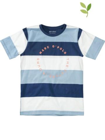 Marc O'Polo Junior Koszulka w kolorze niebiesko-białym
