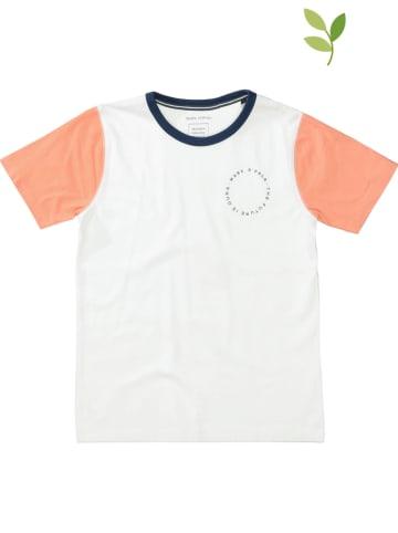 Marc O'Polo Junior Shirt wit/oranje