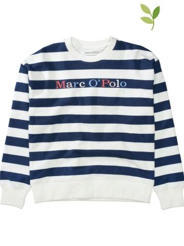 Marc O'Polo Junior Bluza w kolorze niebiesko-białym