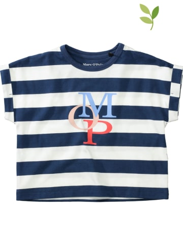 Marc O'Polo Junior Shirt blauw/wit