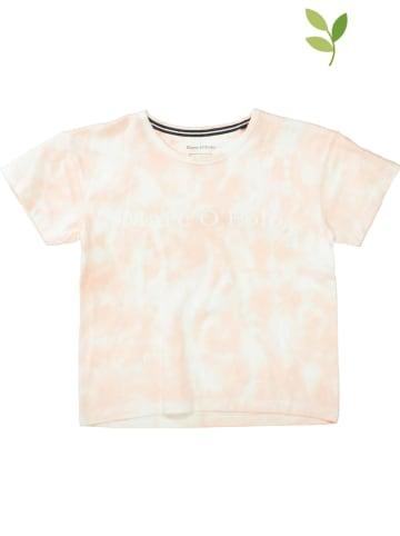 Marc O'Polo Junior Koszulka w kolorze jasnoróżowo-białym