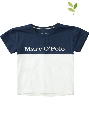 Marc O'Polo Junior Shirt donkerblauw/wit