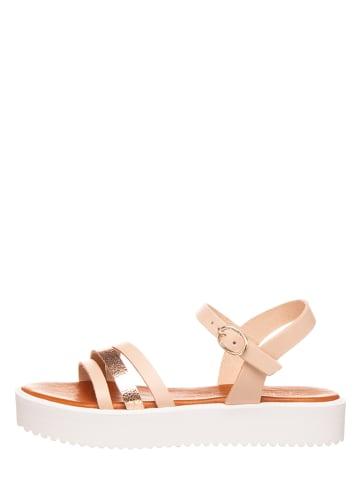 Michela Leren sandalen nude