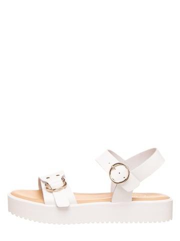 Michela Leren sandalen wit