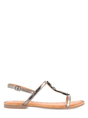 Gioseppo Leren sandalen zilverkleurig