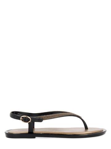 Gioseppo Skórzane japonki w kolorze czarno-jasnobrązowym