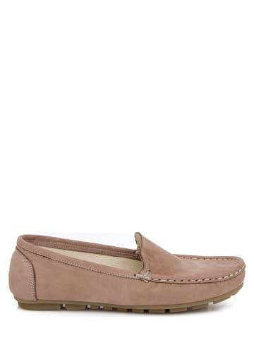 Zapato Leren mocassins lichtbruin
