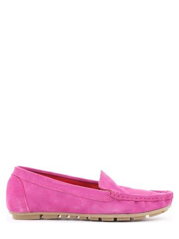 Zapato Leren mocassins fuchsia