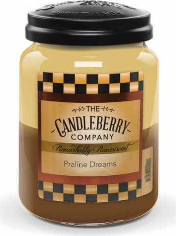 "The CANDLEBERRY CANDLE CO. Duftkerze ""Praline Dreams"" in Braun/ Beige - 570 g"