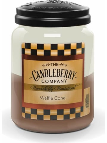 "The CANDLEBERRY CANDLE CO. Duftkerze ""Waffle Cone"" in Braun/ Creme - 570 g"