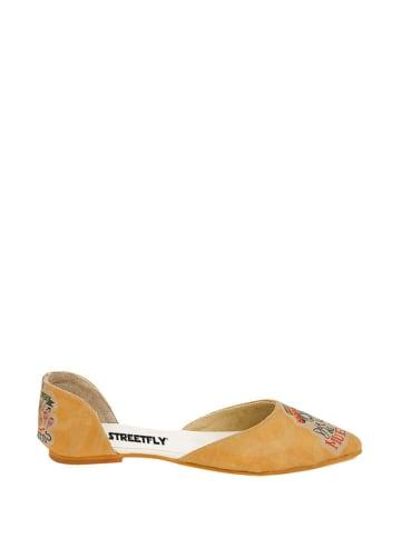 Streetfly Ballerina's oranje/meerkleurig