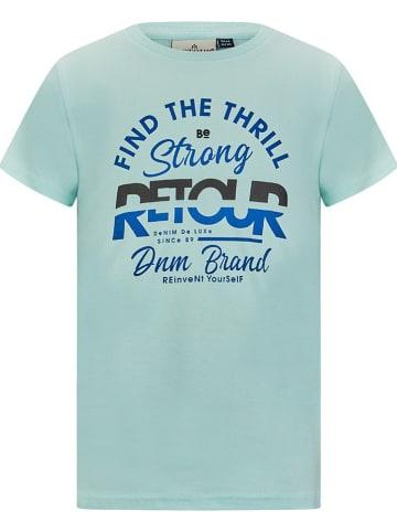 """Retour Shirt """"Boyd"""" in Hellblau"""