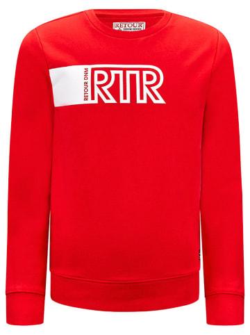 """Retour Sweatshirt """"Jannes"""" rood"""