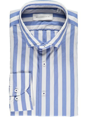 "Baldessarini Blouse ""Kenley"" - tailored fit - blauw/wit"