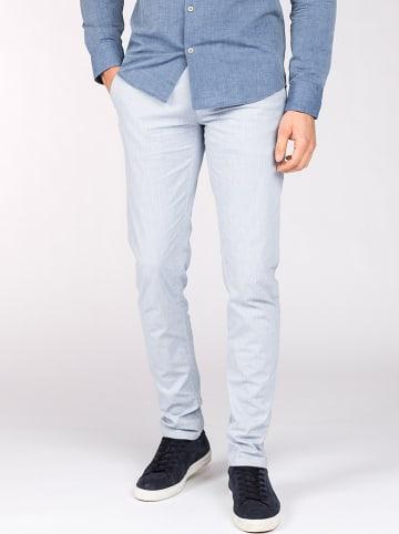 "Vanguard Spodnie chino ""V65"" - Straight Slim fit - w kolorze błękitnym"