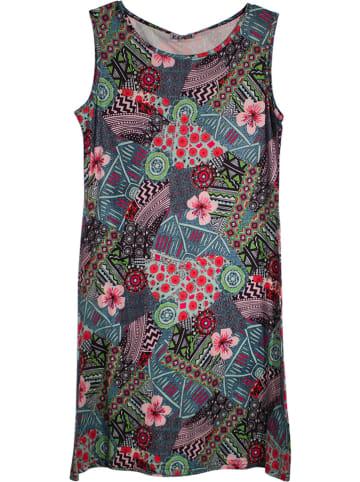 KÉAWA Sukienka w kolorze ciemnozielonym ze wzorem
