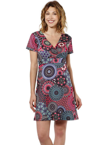 KÉAWA Sukienka w kolorze czerwonym ze wzorem