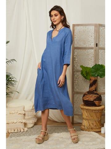 Lin Passion Linnen jurk blauw