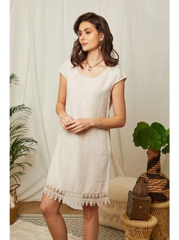 Lin Passion Leinen-Kleid in Beige
