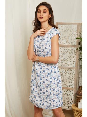 Lin Passion Lniana sukienka w kolorze białym